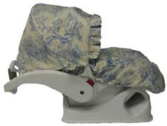 Hula Moon Blue Toile Infant Car Seat Carrier Cover